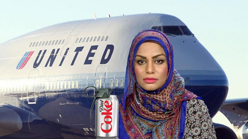 """美联航就穆斯林在飞机上因""""可乐事件""""受辱道歉"""